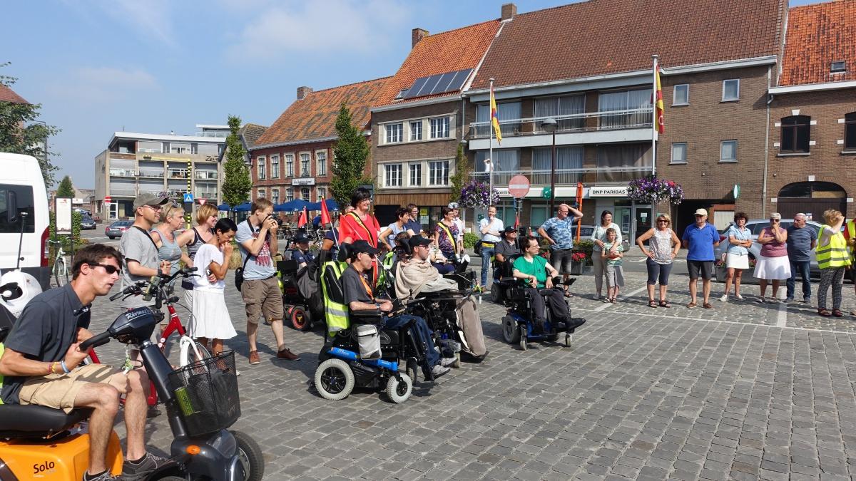 Rollend door Vlaanderen 2017 - Start in Hooglede